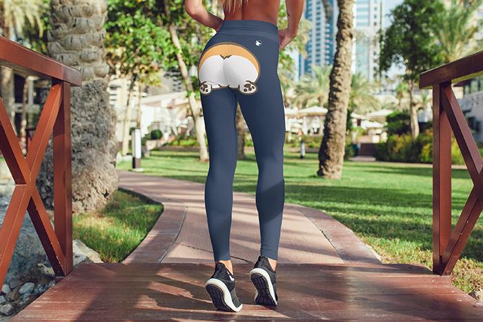 corgi butt leggings workout