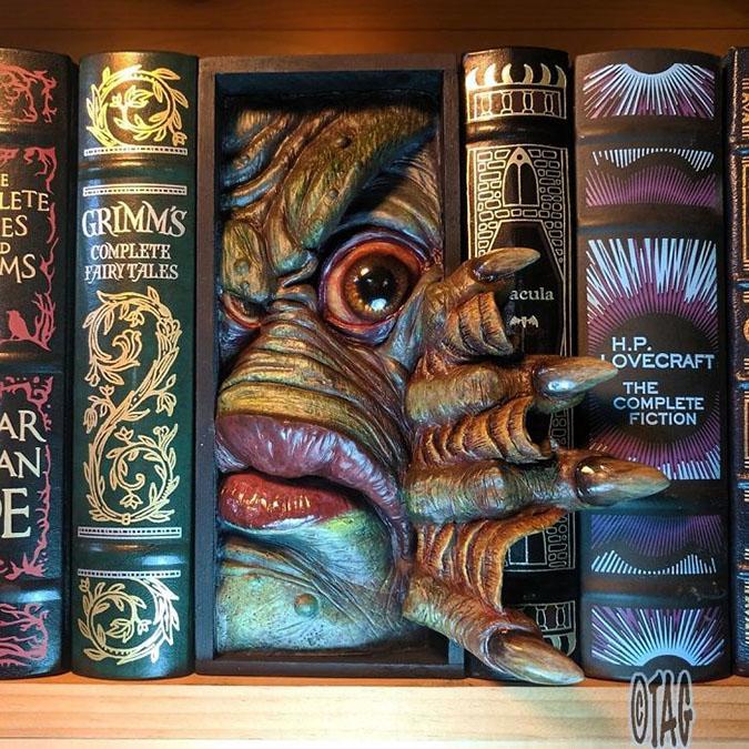 creature from black lagoon bookshelf insert