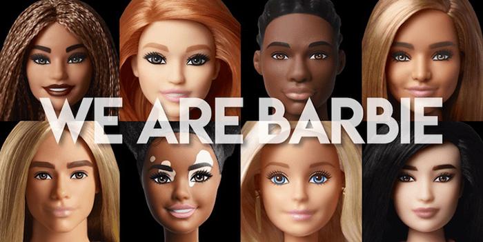 diverse barbie and ken dolls