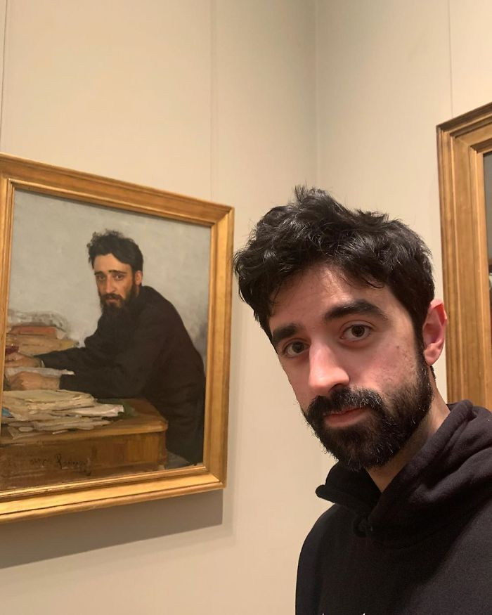 doppelgangers man in the painting