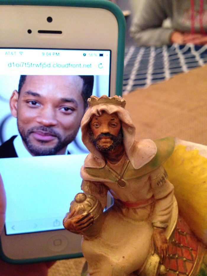 doppelgangers will smith nativity figurine