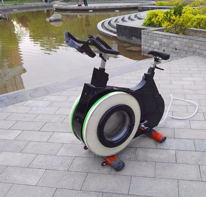 exercise bike washing machine dual-function