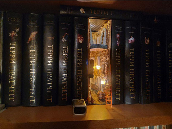 fantasy book nook