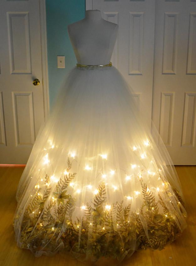 finished christmas angel skirt