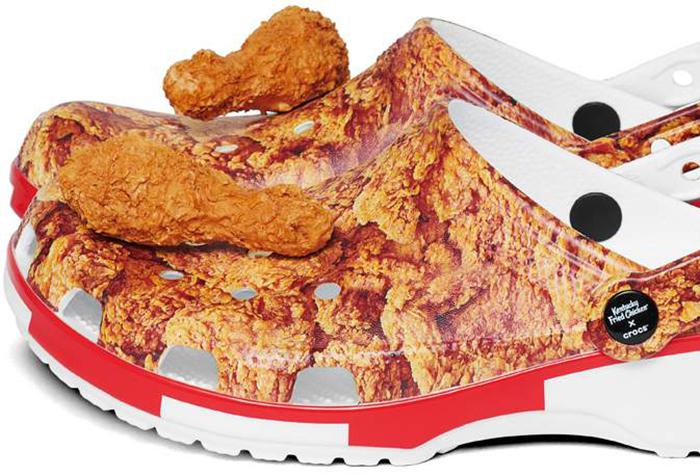 fried-chicken crocs with jibbitz