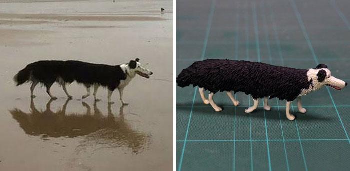 funny animal moment turned 3d super long dog