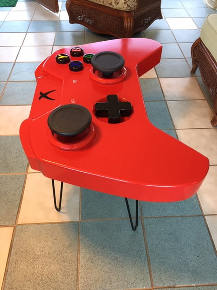 giant xbox one controller coffee table red