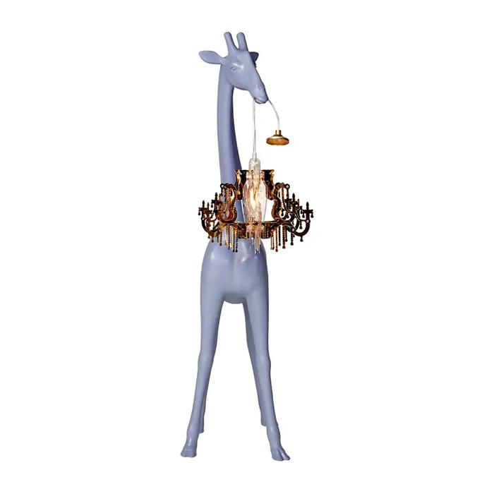 giraffe chandelier lamps xs grey