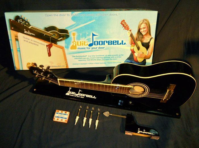 guitar doorbell black finish