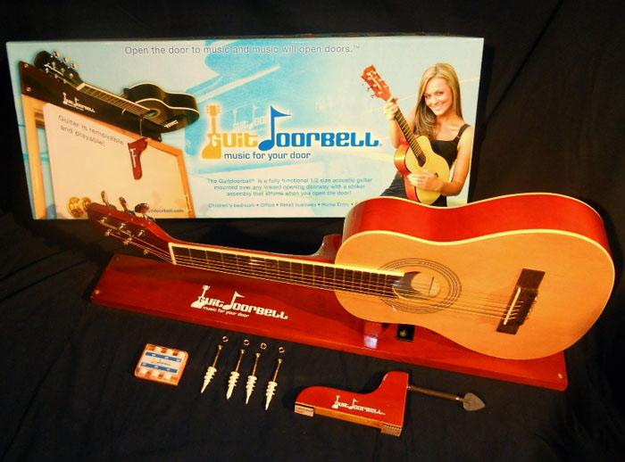 guitar doorbell natural finish