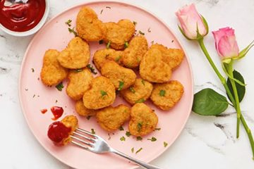 heart shaped chicken nuggets