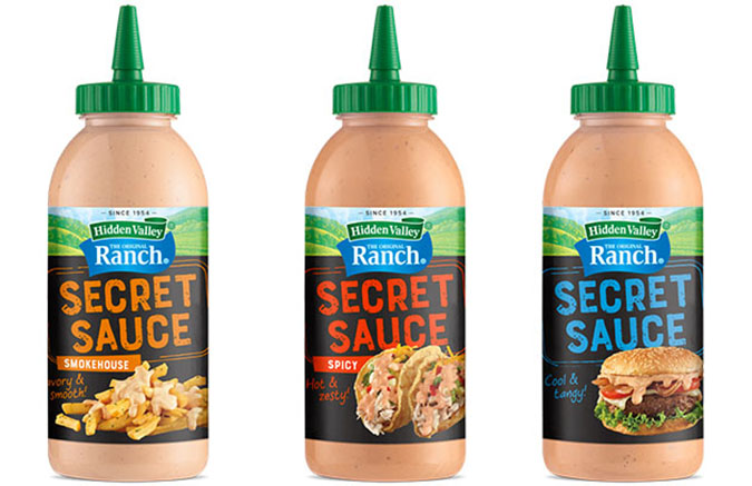 The Secret Sauces line is the latest additions to Hidden Valley's line of dressings and sauces. The name of the sauces itself sound fancy and promising…how could we possibly not want them?!