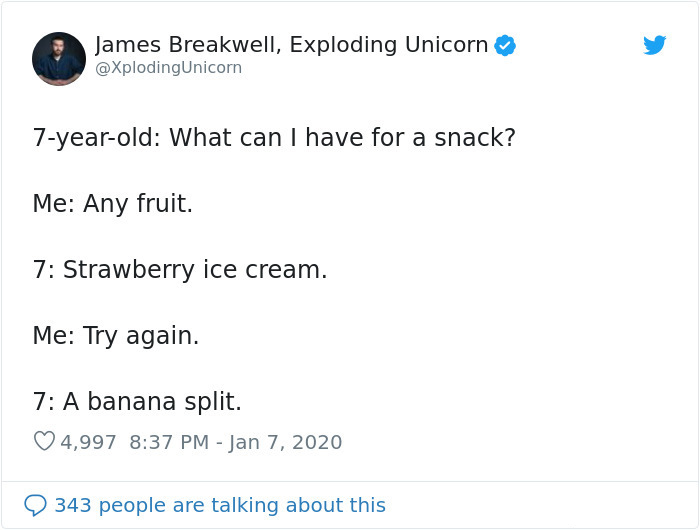 hilarious conversation with 7-year-old kid fruit snack