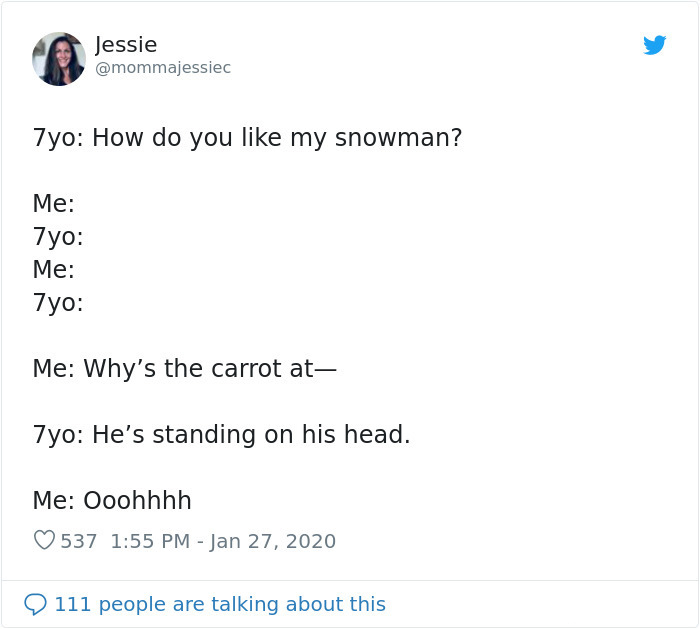 hilarious conversation with 7-year-old kid snowman