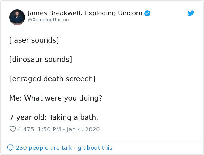 hilarious conversation with 7-year-old kid taking a bath