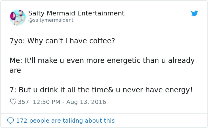 hilarious conversation with kid coffee energy