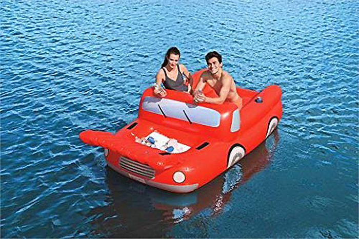 inflatable red truck float
