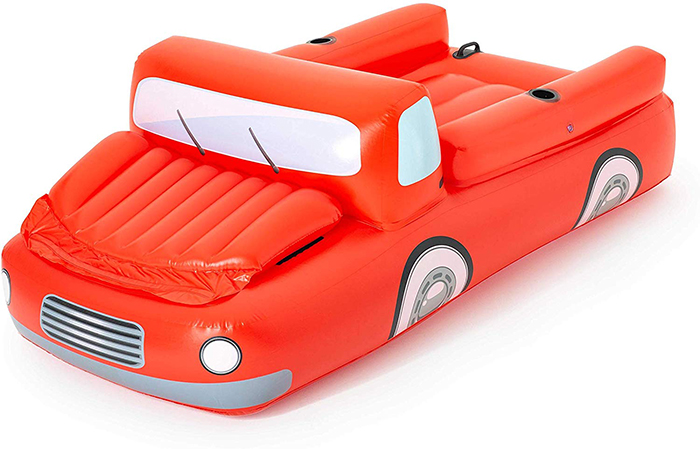 inflatable red truck