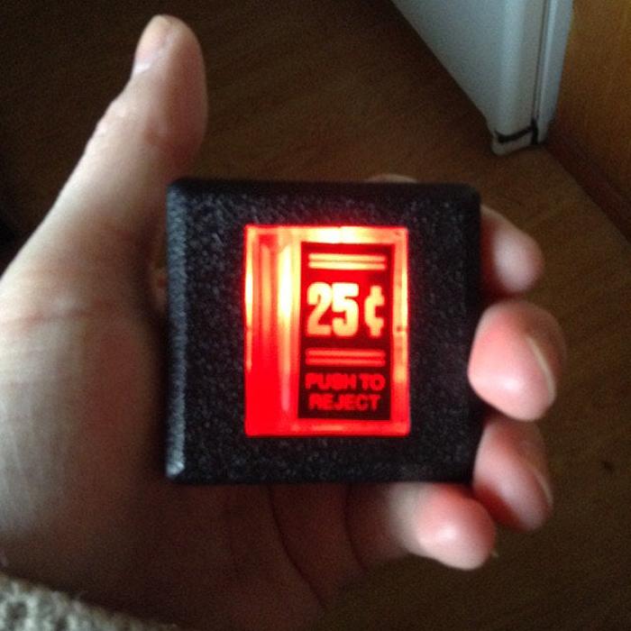insert coin belt buckle led light