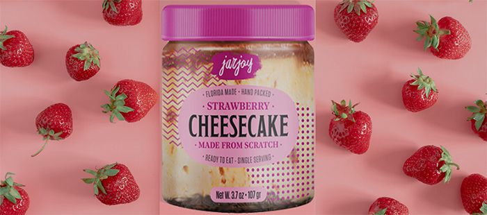 jar joy cheesecake strawberry vanilla