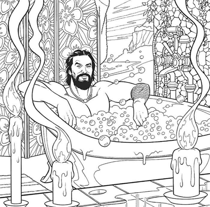 jason momoa coloring book bubble bath