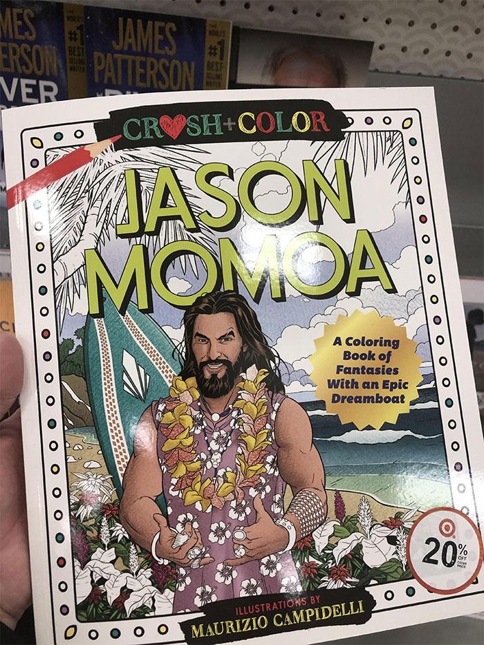 jason momoa coloring book cover