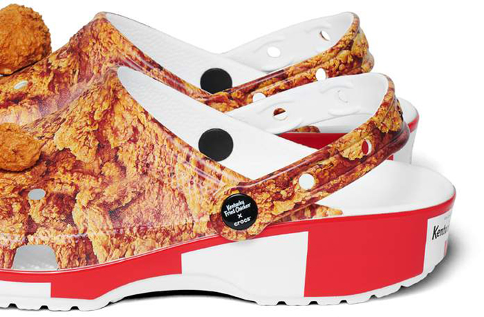 kfc bucket inspired shoes clog style