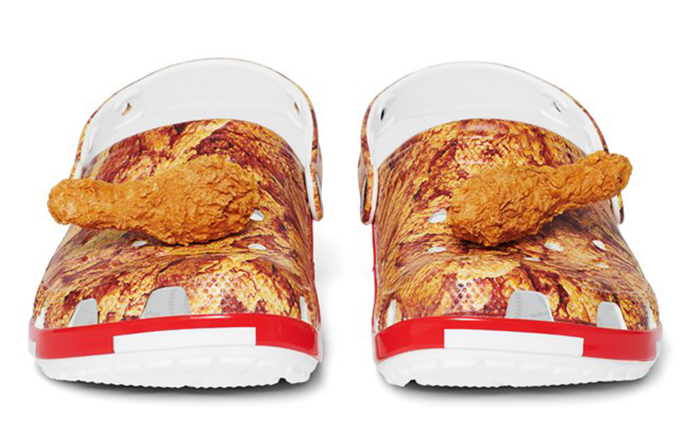 kfc fried-chicken crocs with drumstick jibbitz