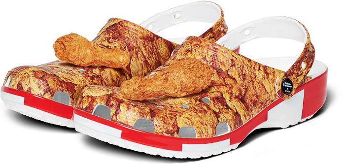 kfc inspired foam clog shoes