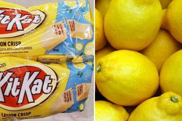kitkat lemon crisp