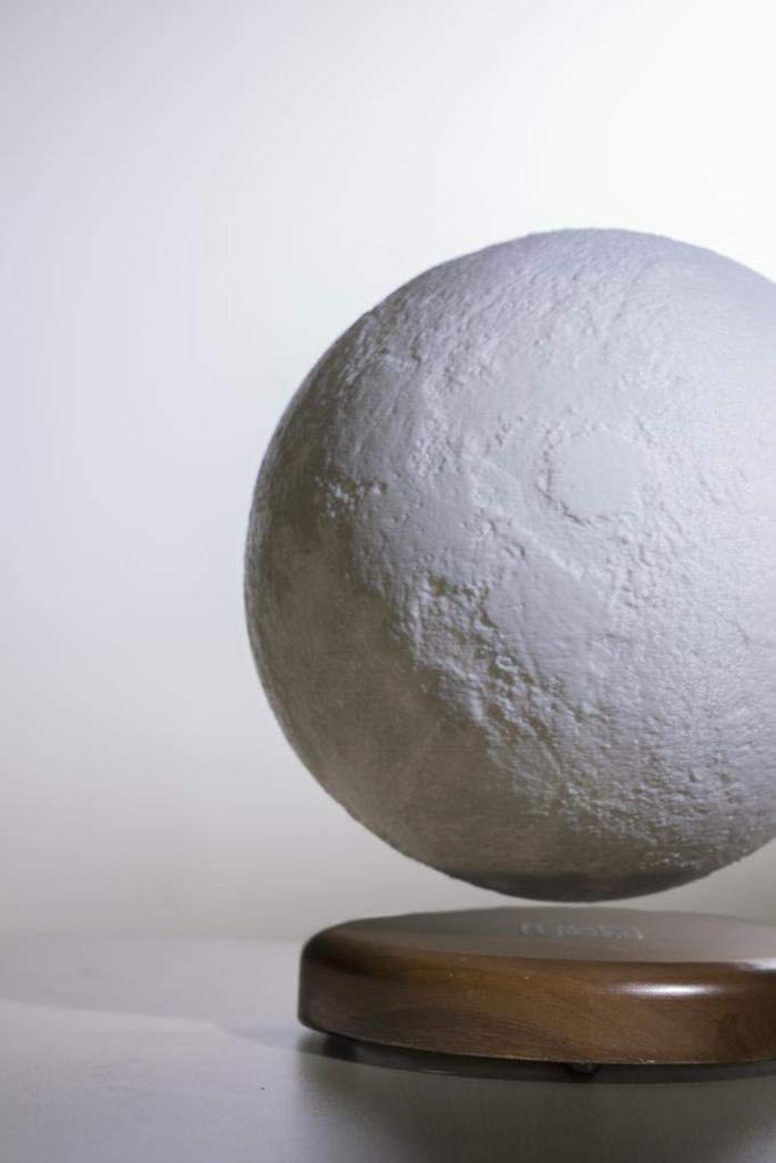 levitating moon lamp turned off