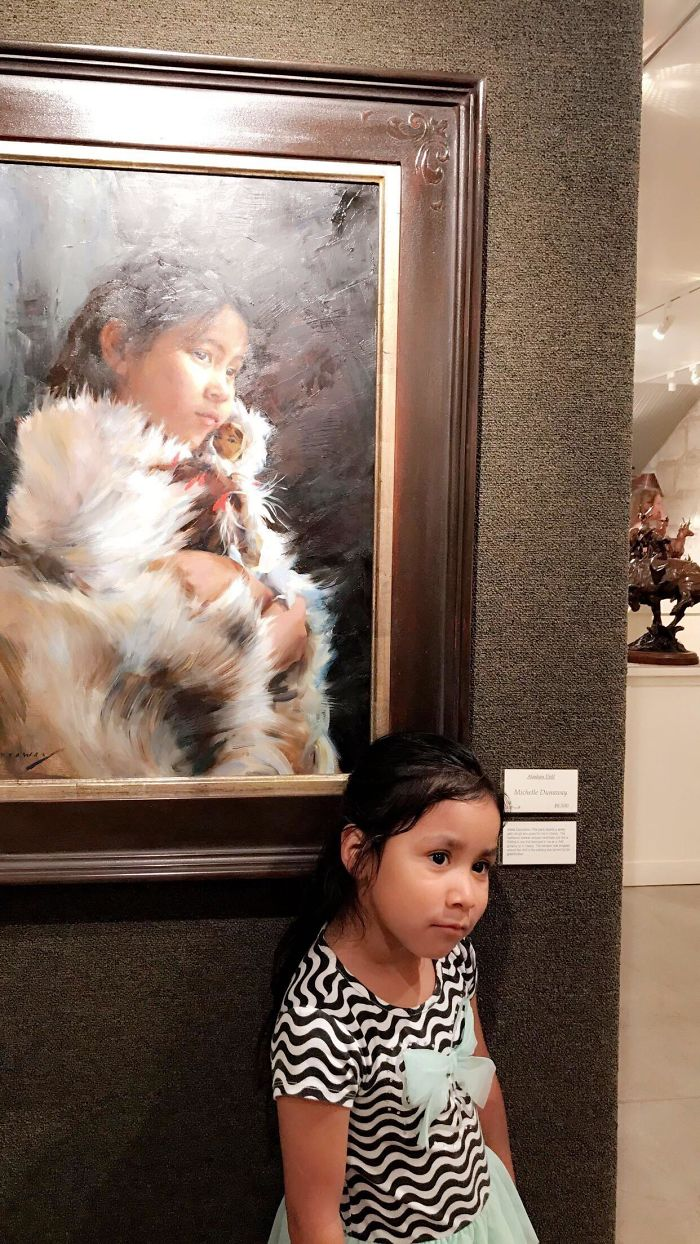 lookalikes unexpected places girl in the painting