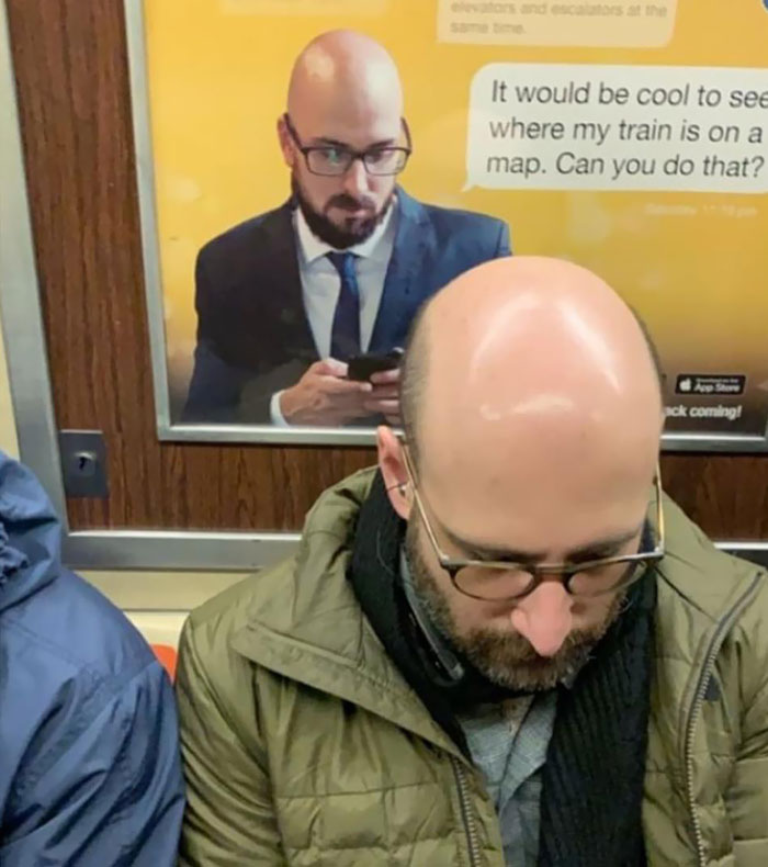 lookalikes unexpected places subway ad