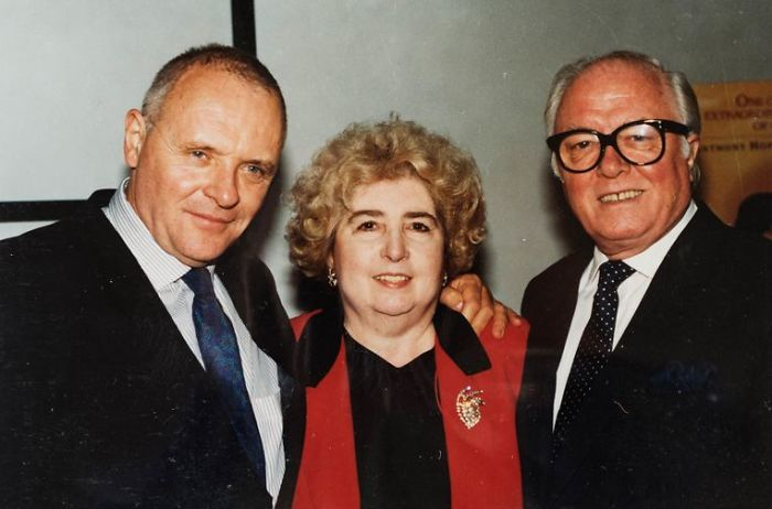 maria snoeys lagler with anthony hopkins and richard attenborough