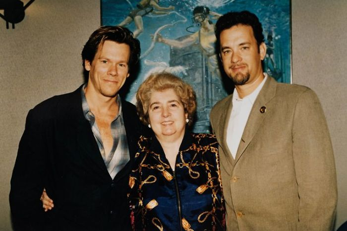 maria snoeys lagler with kevin bacon and tom hanks