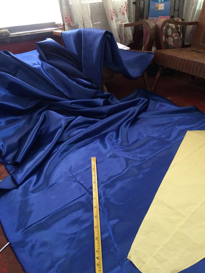 maverick francisco oyao makes gown for sister blue fabric material