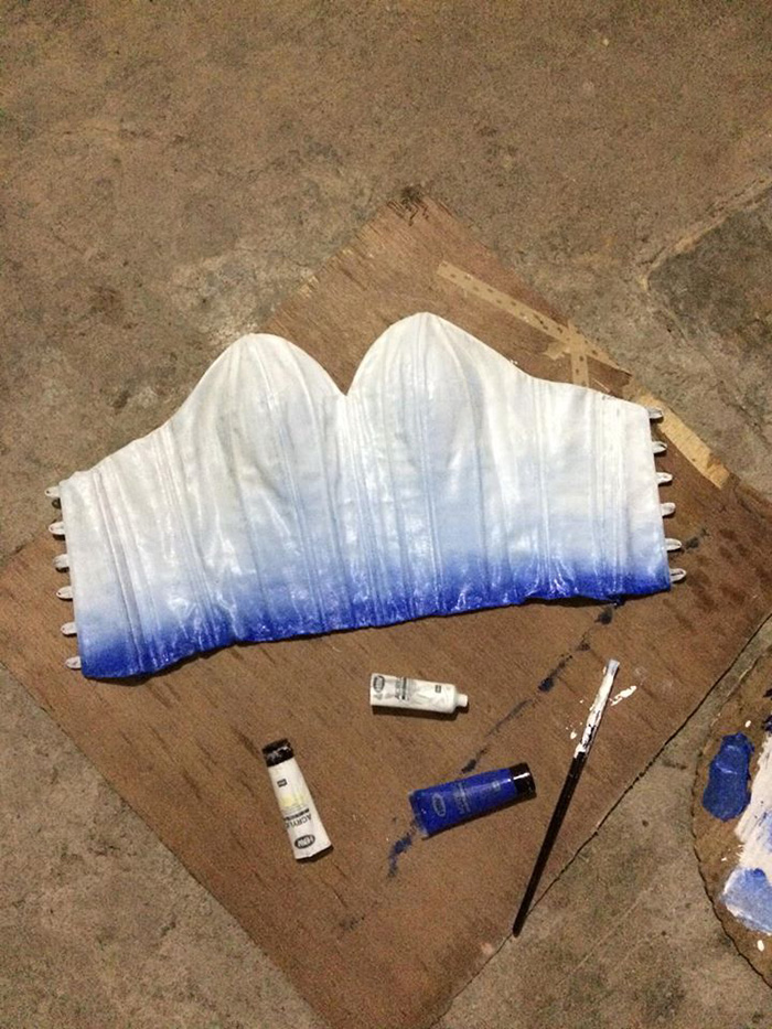 maverick francisco oyao makes gown for sister hand-painted bodice