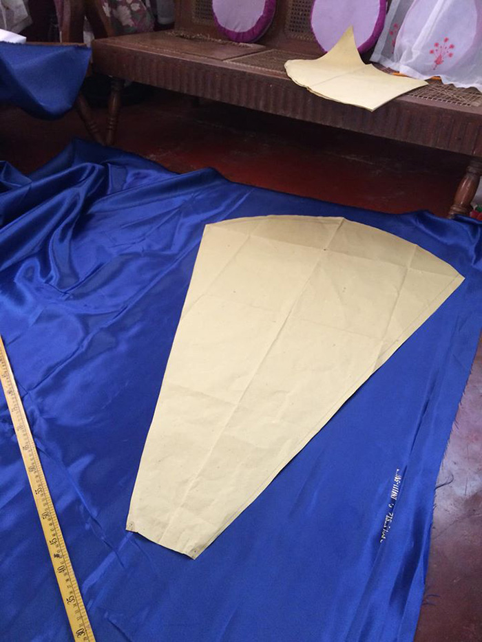 maverick francisco oyao makes gown for sister skirt paper base