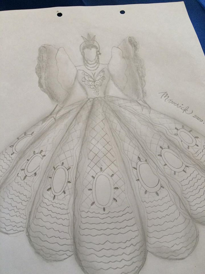 maverick oyao prom dress sketch