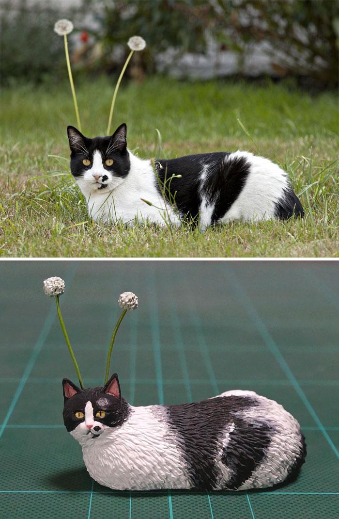 meme-inspired sculptures alien cat