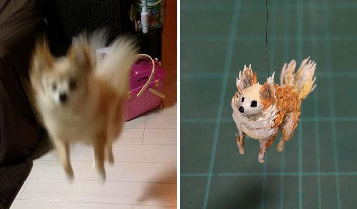meme-inspired sculptures electrified dog