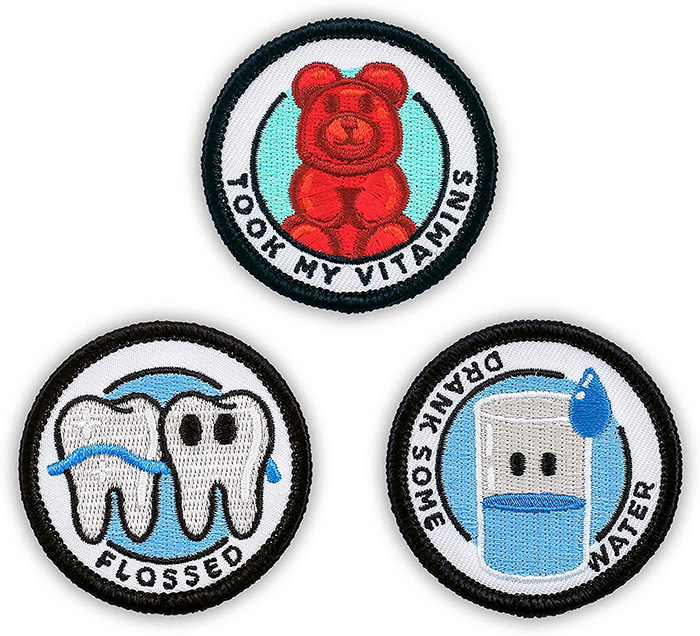 merit badges for adults health set 2