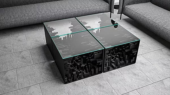 mousarris contemporary tables black edition city cube