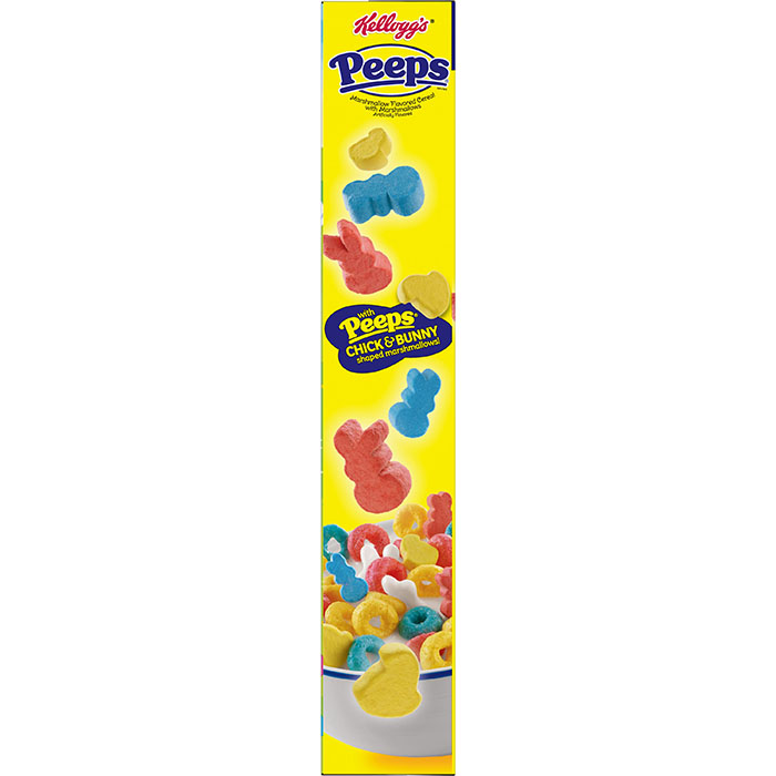 peeps cereal box side showcasing the marshmallows