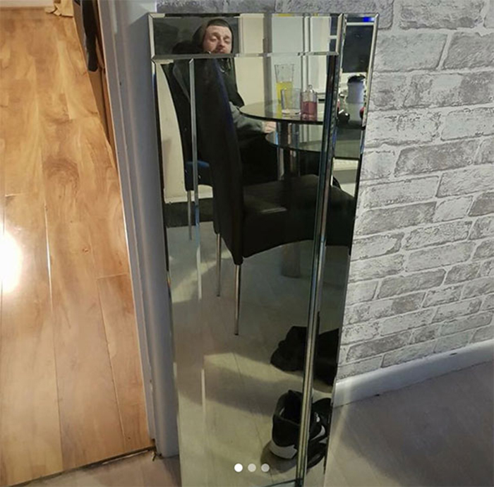 people trying to sell mirrors collage