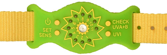 personal uv monitor bracelet green
