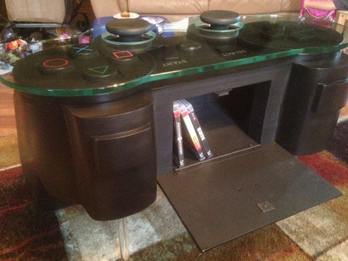 ps3 console inspired furniture with storage