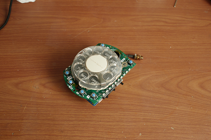 retro mobile phone rotary dial