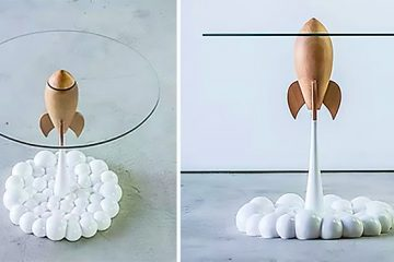 rocket glass table