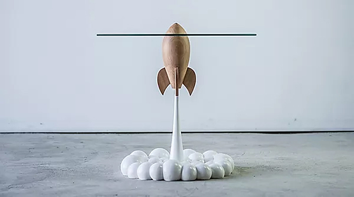 single rocket coffee table